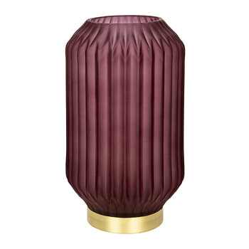 Striped Glass Lamp - Large - Pink