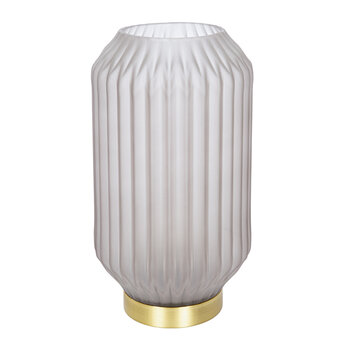 Striped Glass Lamp - Large - Grey