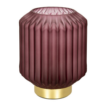 Striped Glass Lamp - Small - Pink