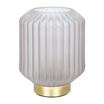 Striped Glass Lamp - Small - Grey