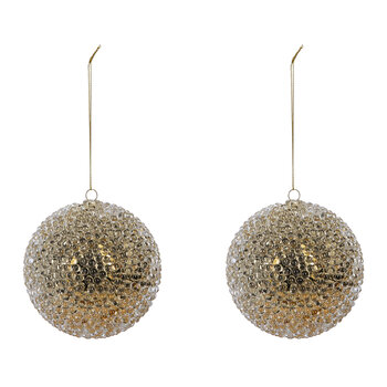 Pearls Bauble - Set of 2 - Gold