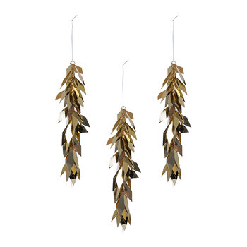 Gold Foliage Tree Decoration - Set of 3