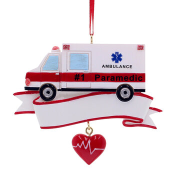 Paramedic Ambulance Tree Decoration