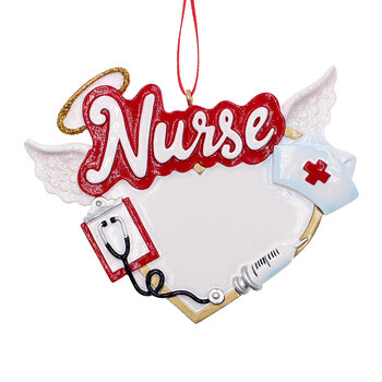 Nurse with Angel Wings Tree Decoration