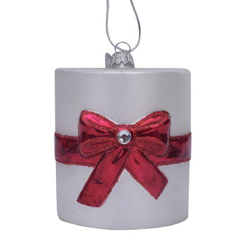 Toilet Paper with Ribbon Tree Decoration