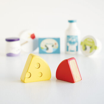 Cheese & Dairy Crate Wooden Toys