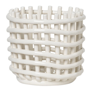 Ceramic Basket - Off-White
