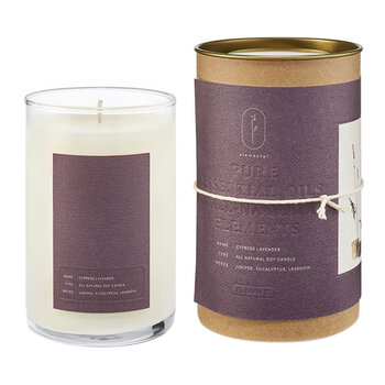 Natural Glass Candle - Cypress Lavender