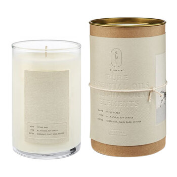 Natural Glass Candle - Velvetier Sage