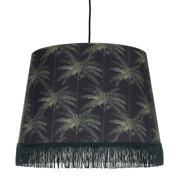 Ornamental Palms Cone Ceiling Light - Dark