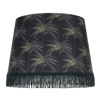 Ornamental Palms Cone Lamp Shade - Dark
