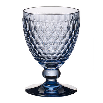 Boston Colored Red Wine Goblet - Blue