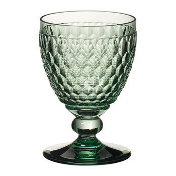 Boston Colored Red Wine Goblet - Green