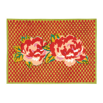 Double Peonia Placemat - Acid Green - 35x48cm