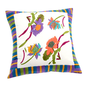 Japanese Pillow Cover - White - 60x60cm