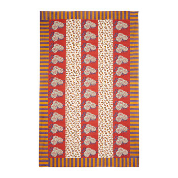 Leopard Stripes Tagesdecke - Rostrot - 180x270 cm