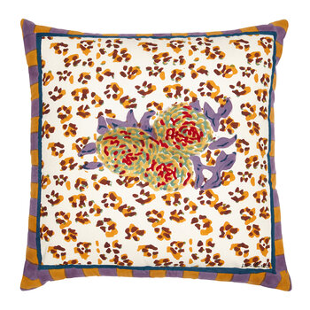 Leopard Stripes Cushion - Rust - 60x60cm
