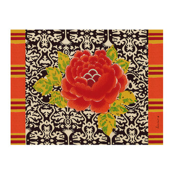 Sunrise Rectangular Placemat - Black
