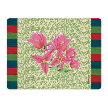 Bougainvillea Spiral Rectangular Placemat