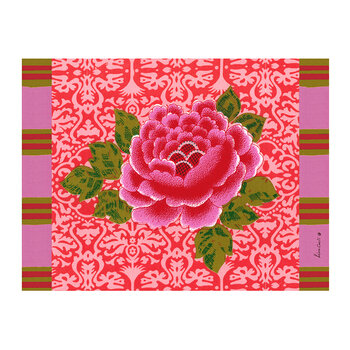 Sunrise Rectangular Placemat - Coral