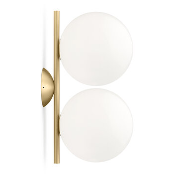 IC Double Wall/Ceiling Light - Brushed Brass
