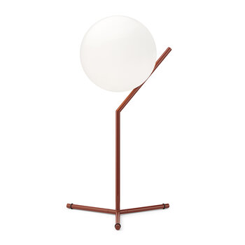 High IC Glossy Table Lamp - Red Burgundy