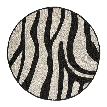 Zebra Placemat - Black