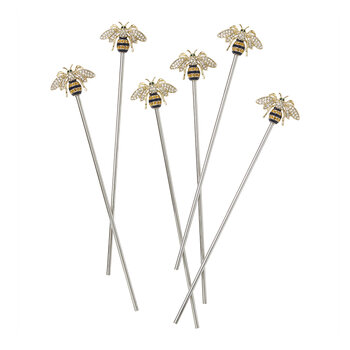 Stripey Bee Swizzle Sticks