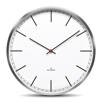 One Silent Wall Clock - White Index