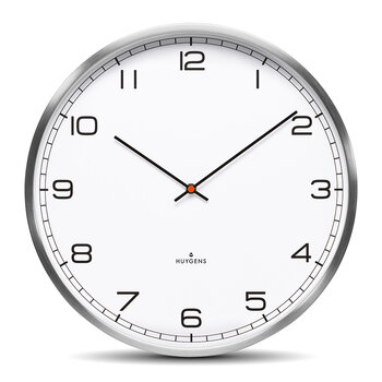 One Silent Wall Clock - White Arabic