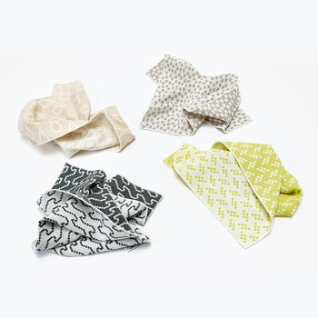 Assorted Printed Napkins - Set of 4 - Grey & Yellow