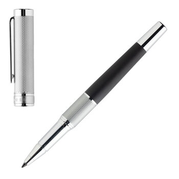 Dual Rollerball Pen - Chrome/Black