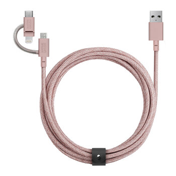 Universal Belt Cable - 2m - Rose