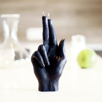 'Gun Fingers' Candle - Black