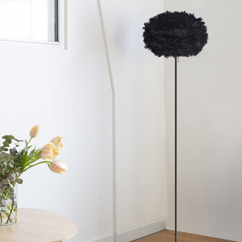 Eos Feather Lamp Shade - Black - Medium