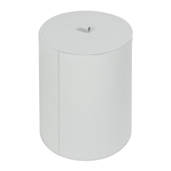 Bino Round Lidded Bin - Large - Light Gray