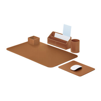 Idea Desk Set - Cognac