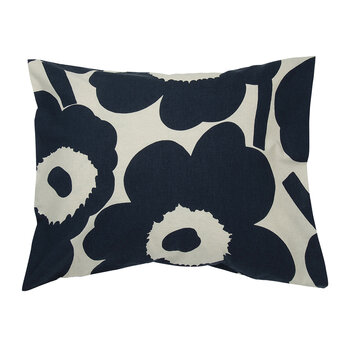 Unikko Pillowcase - Navy/White