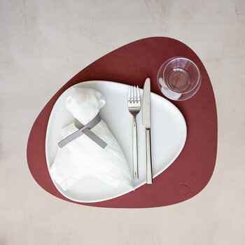 Nupo Curve Table Mat - Set of 4 - Red