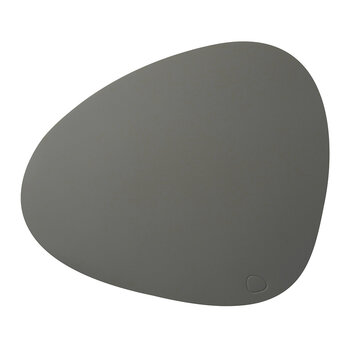 Softbuck Curve Table Mat - Set of 4 - Dark Gray