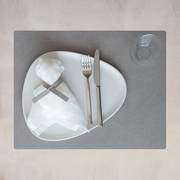 Hippo Square Table Mat - Set of 4 - Anthracite Gray