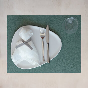 Hippo Square Table Mat - Set of 4 - Pastel Green