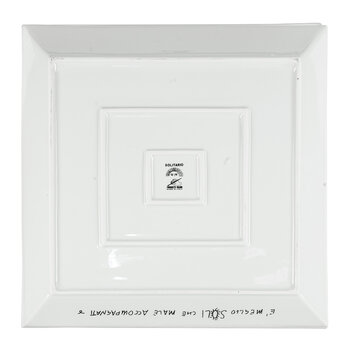 Solitario Square Tray - White/Black