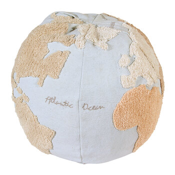World Map Pouf