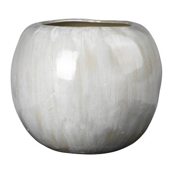 Apple Vase - Antique White