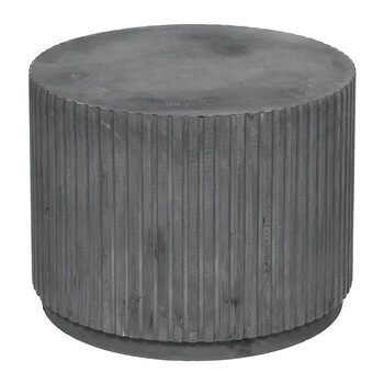 Rillo Side Table - Charcoal