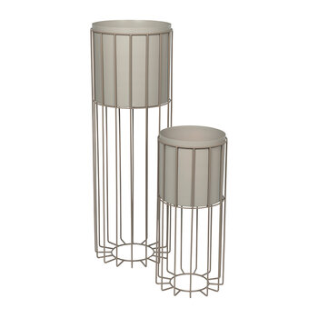 Fenja Pot with Stand - Set of 2 - Simple Taupe