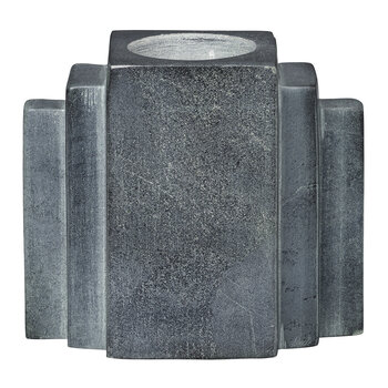Larry Marble Tealight Holder - Grey