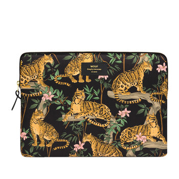 Black Lazy Jungle Laptop Case