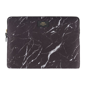 "Marble Laptop Case - 15"" - Black"